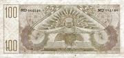 100 Gulden – reverse