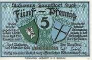 5 Pfennig (Lyck) – obverse