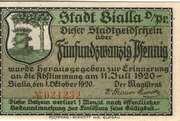25 Pfennig (Bialla) – obverse