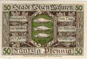 50 Pfennig (Lötzen) – obverse