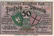 50 Pfennig (Lyck) – obverse