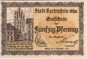 50 Pfennig (Bartenstein) – obverse