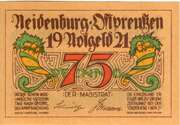 75 Pfennig (Neidenburg) – obverse