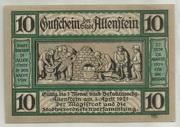 10 Pfennig (Allenstein) – obverse