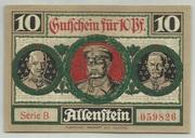 10 Pfennig (Allenstein) – reverse