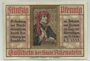 50 Pfennig (Allenstein) – obverse