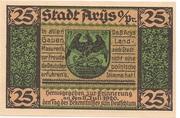 25 Pfennig (Arys) – obverse