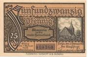 25 Pfennig (Arys) – reverse