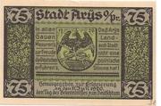 75 Pfennig (Arys) – obverse