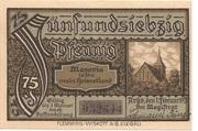 75 Pfennig (Arys) – reverse