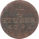 ¼ Stuber - Friedrich Wilhelm II – reverse