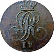 ¼ Stüber - George IV – obverse