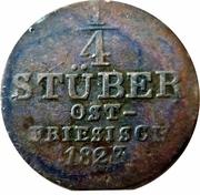¼ Stüber - George IV – reverse