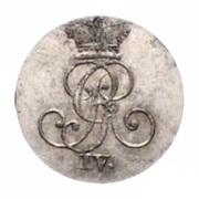1 Stüber - George IV – obverse