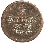 ¼ Stüber - Friedrich II – reverse