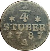 ¼ Stüber - Friedrich Wilhelm II. – reverse