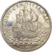 Medal - Coronation of Georg Albrecht (East Friesland) – reverse