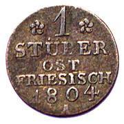 1 Stüber - Friedrich Wilhelm III – reverse