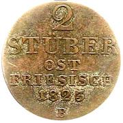 2 Stüber - George IV – reverse
