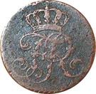 ¼ Stüber - Friedrich II – obverse