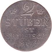 2 Stüber - Friedrich Wilhelm III. – reverse