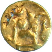 Fanam - Bhanudeva IV – obverse
