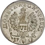 6 Groschen - Elizaveta – reverse