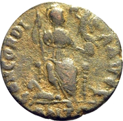 Follis - Arcadius (CONCORDIA AVGG; Antioch) – reverse