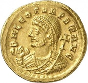 Solidus - Leo I (VICTORIA AVGGG; Thessalonica) – obverse