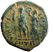 Follis - Arcadius (VIRTVS EXERCITI; Antioch) – reverse
