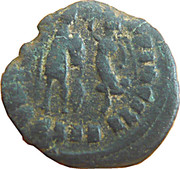 Follis - Arcadius (VIRTVS EXERCITI; Nicomedia) – reverse