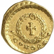 Tremissis - Pulcheria (Cross within wreath; Constantinopolis) – reverse