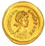 Tremissis - Theodosius II (VICTORIA AVGVSTORVM; Constantinopolis) – obverse