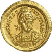 Solidus - Theodosius II (SALVS REIPVBLICAE; Constantinopolis) – obverse