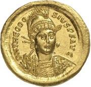 Solidus - Theodosius II (CONCORDIA AVGG; Constantinopolis) – obverse
