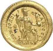 Solidus - Theodosius II (CONCORDIA AVGG; Constantinopolis) – reverse