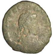 Follis - Theodosius II (GLORIA ROMANORVM; Thessalonica) – obverse