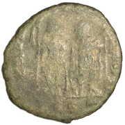 Follis - Theodosius II (GLORIA ROMANORVM; Thessalonica) – reverse