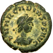 Follis - Arcadius (VOT V; Cyzicus) – obverse