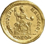 Solidus - Arcadius (CONCORDIA AVGGGG; Constantinopolis) – reverse