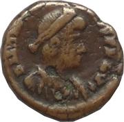 Follis - Arcadius (VOT X MVLT XX; Alexandria) – obverse