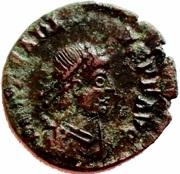 Follis - Arcadius (GLORIA ROMANORVM; Siscia) – obverse