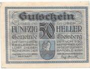 50 Heller (Ebelsberg) -  obverse