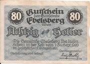 80 Heller (Ebelsberg) -  obverse