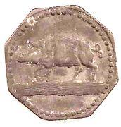 10 Pfennig - Eberbach – reverse