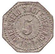 5 Pfennig - Eberbach – obverse