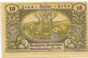 10 Heller (Eberschwang) – obverse
