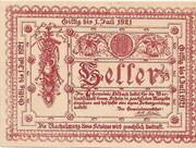 10 Heller (Edlbach) – obverse