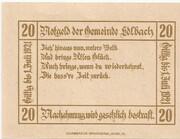 20 Heller (Edlbach) – reverse