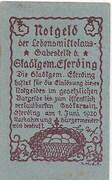 15 Heller (Eferding) – reverse